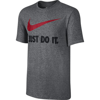 Nike T-Shirt Just Do It Swoosh Anthrazit/Rot