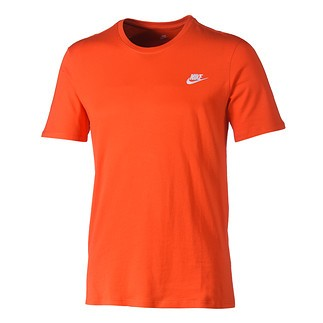 Nike T-Shirt Club Futura Orange/Weiß
