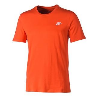 Nike T-Shirt Club Futura Orange/Weiß
