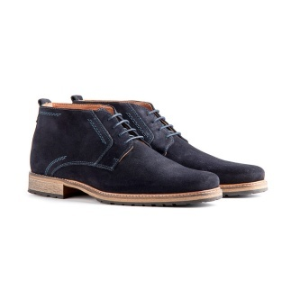 TRAVELIN OUTDOOR Boot London Suede dunkelblau