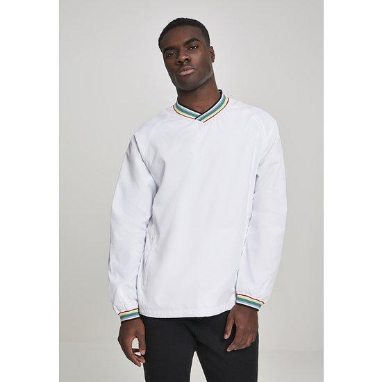 URBAN CLASSICS Pullover Warm Up weiß/bunt