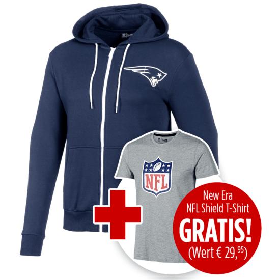 New Era Jacke New England Patriots inkl. T-Shirt NFL Shield Logo