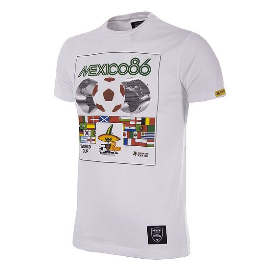 Copa PANINI T-Shirt World Cup 1986 Mexiko weiß