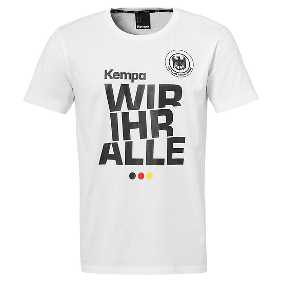 Kempa DHB Handball T-Shirt Wir Ihr Alle weiß