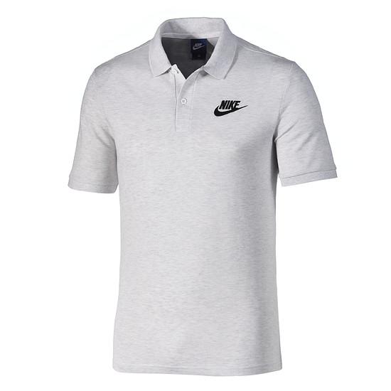 Nike Poloshirt Sportswear Basic grau/schwarz