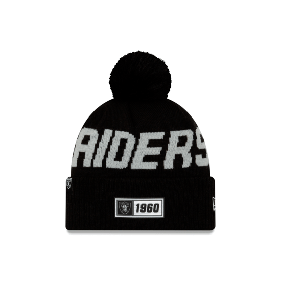 New Era Las Vegas Raiders Beanie On Field Sport Knit RD schwarz