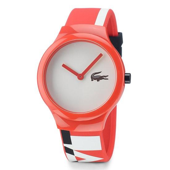 LACOSTE Armbanduhr Goa Weiß/Orange