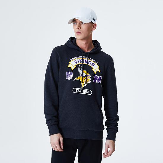 New Era Minnesota Vikings Hoodie Graphic grau
