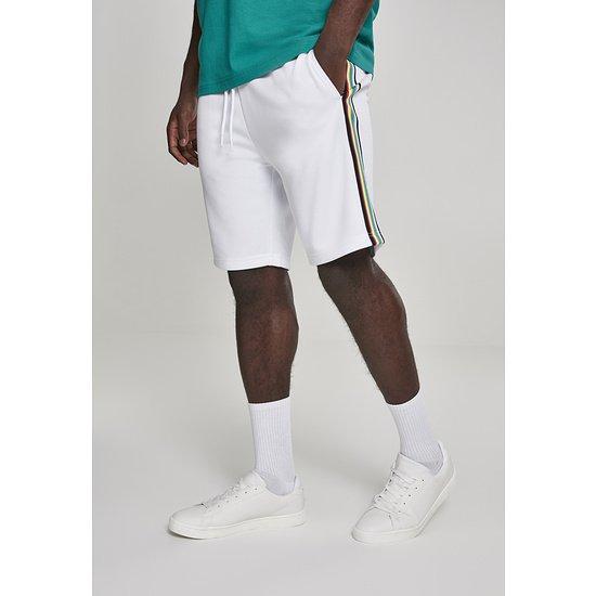 URBAN CLASSICS Shorts Side Taped weiß/bunt