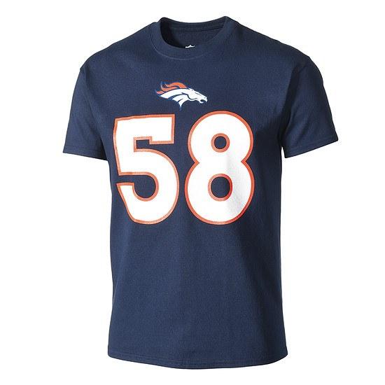 Majestic Athletic Denver Broncos T-Shirt Miller Nr 58 blau
