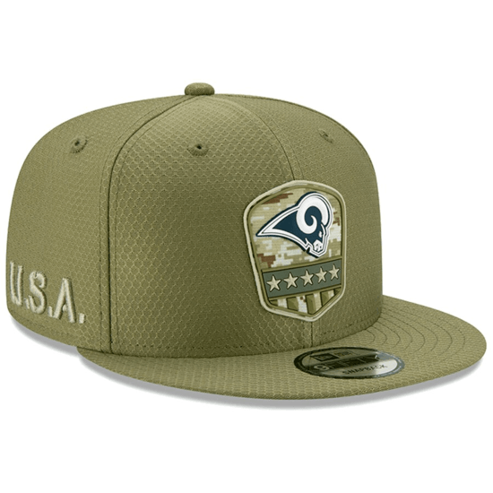 New Era Los Angeles Rams Cap Salute To Service 2019 9FIFTY oliv