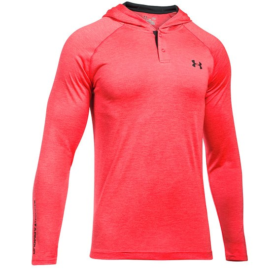 Under Armour Hoodie Tech Popover Henley rot/grau