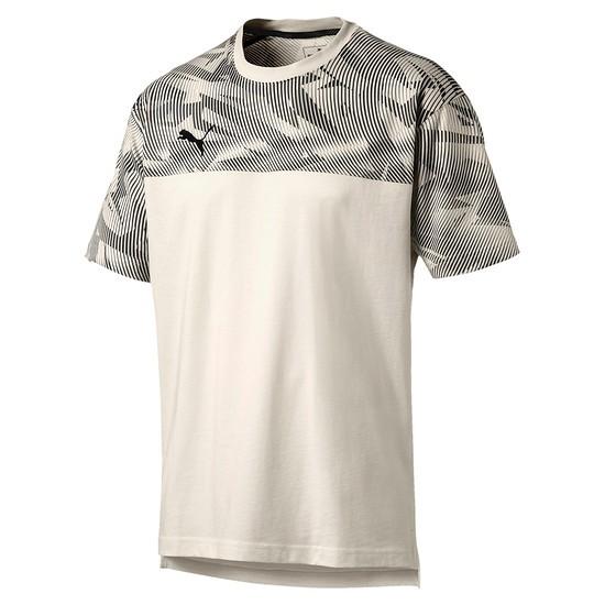 Puma T-Shirt CUP Casuals Weiß/Schwarz