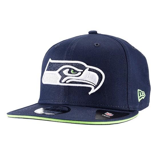 New Era Seattle Seahawks Snapback Cap Team blau
