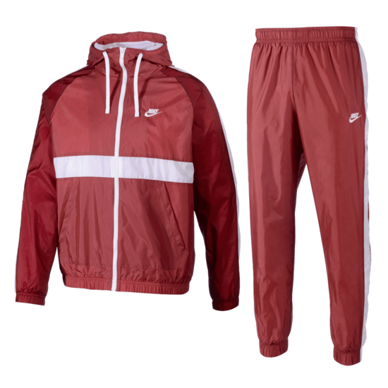 Nike Trainingsanzug Hooded Rot