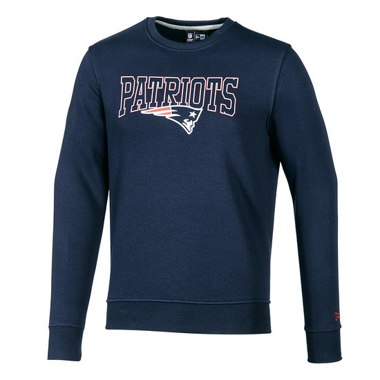 New Era New England Patriots Sweatshirt Script blau