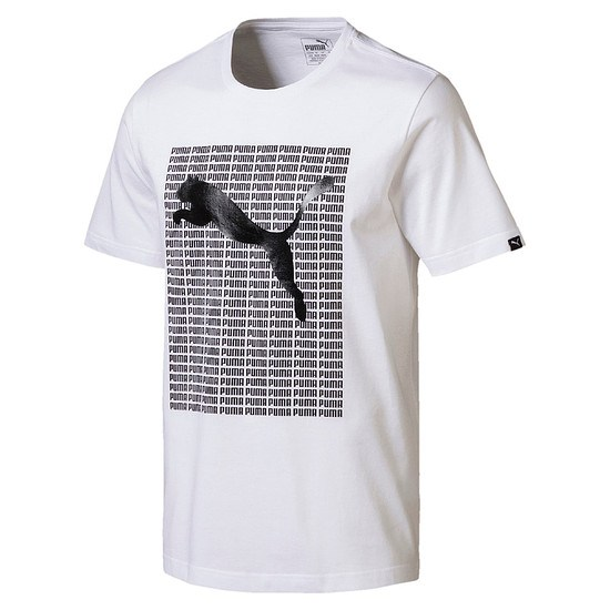 Puma T-Shirt Repeat Weiß