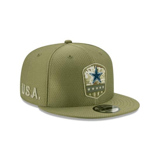 New Era Dallas Cowboys Cap Salute To Service 9FIFTY oliv