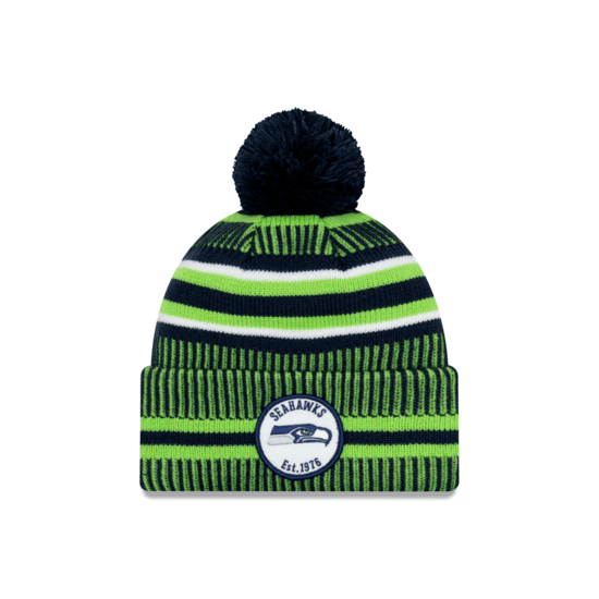 New Era Seattle Seahawks Beanie On Field Sport Knit HM blau