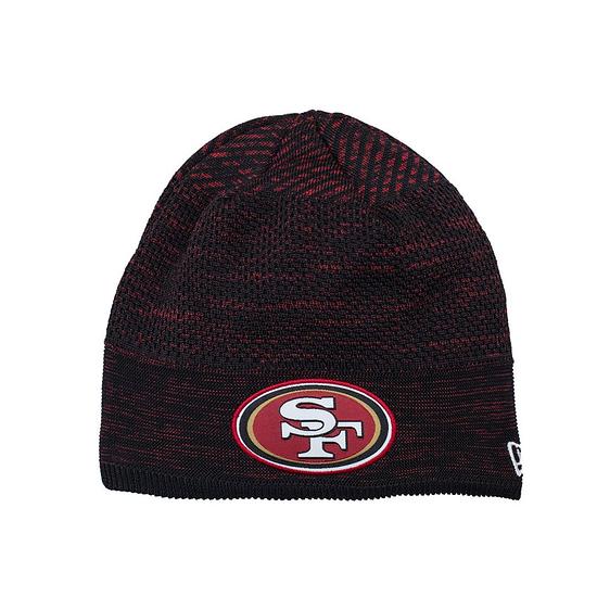New Era San Francisco 49ers Beanie On Field Tech Knit schwarz/rot