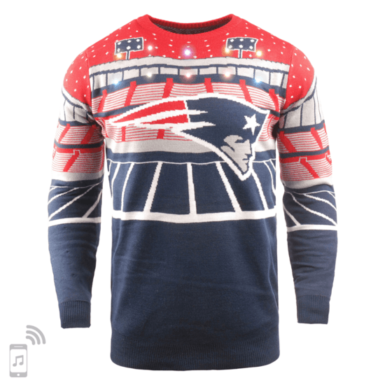 Forever Collectibles New England Patriots Ugly Sweater Bluetooth blau/rot