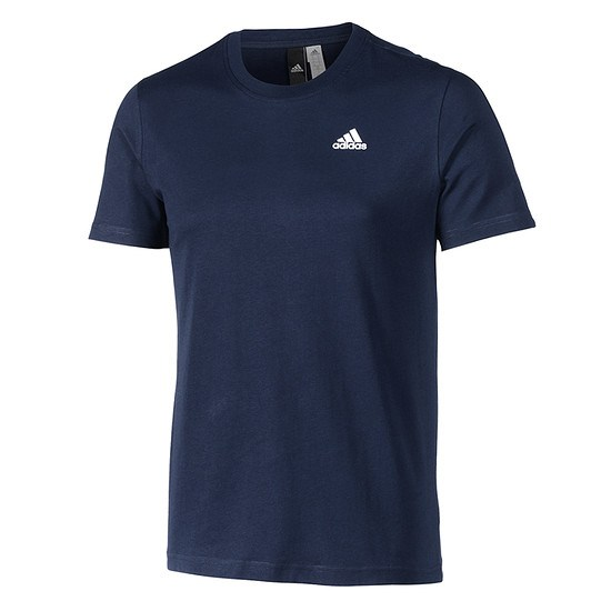 Adidas T-Shirt Basic navy/weiß