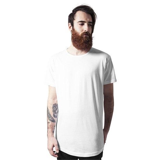 URBAN CLASSICS T-Shirt Peached Shaped Long weiß