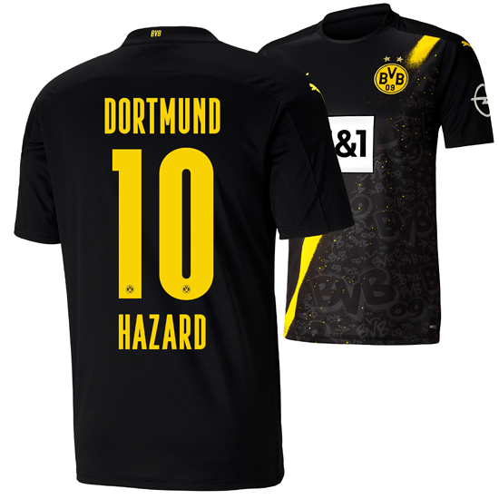 Puma Borussia Dortmund Auswärts Trikot HAZARD 2020/2021 Kinder