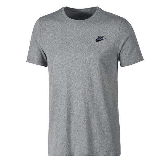 Nike T-Shirt Club Futura Grau/Schwarz