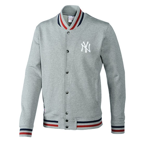 New Era New York Yankees Jacke Team Varsity grau