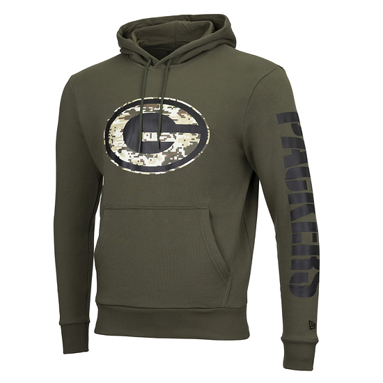New Era Green Bay Packers Hoodie Camo Injection grün