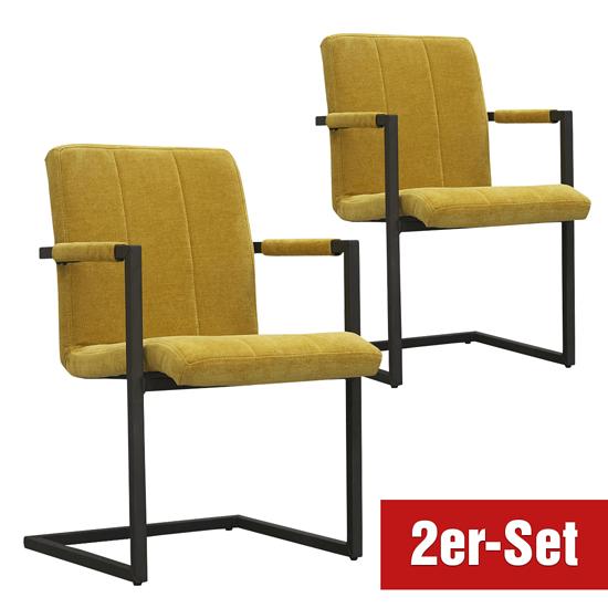 BREAZZ Stuhl Chairactor 2er Set gelb