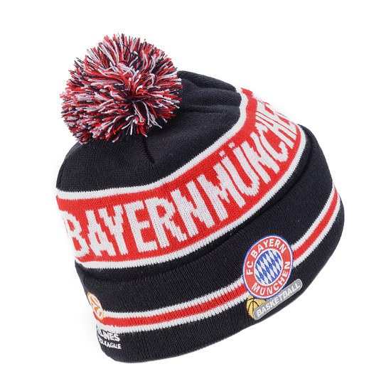 New Era FC Bayern München Basketball Beanie Euroleague Jake blau/rot