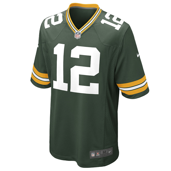 Nike Green Bay Packers Trikot Heim Game Rodgers