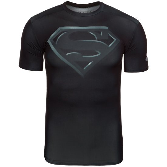 Under Armour Funktionsshirt HeatGear Alter Ego Superman 2 schwarz/ silber