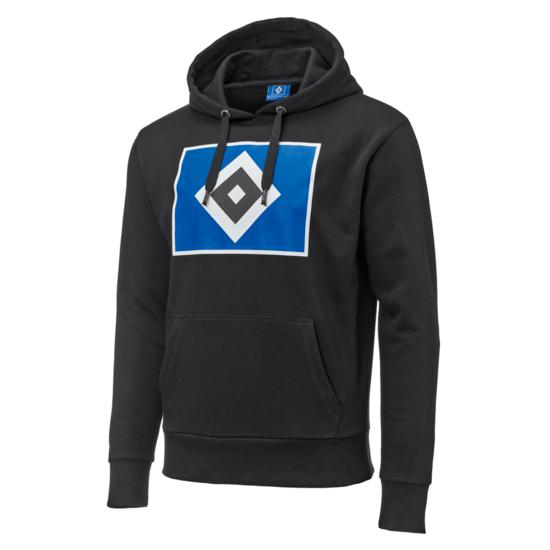 Hamburger SV Hoodie Raute Kinder Schwarz