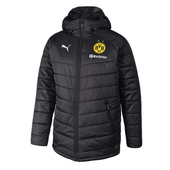 Puma Borussia Dortmund Winterjacke Bench schwarz