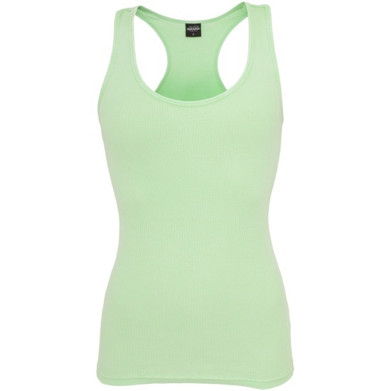 URBAN CLASSICS Tanktop Faded Damen Mint