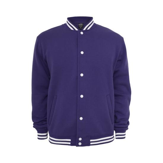 URBAN CLASSICS Collegejacke Sweat Lila