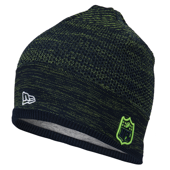 New Era Seattle Seahawks Beanie On Field Tech Knit grün/schwarz