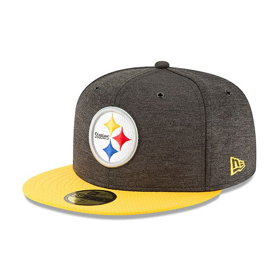 New Era Pittsburgh Steelers Cap 59FIFTY Sideline Home schwarz/gelb