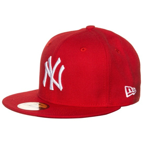 New Era Cap 59FIFTY MLB Basic New York Yankees rot/weiß