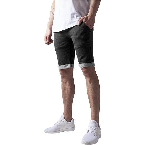 URBAN CLASSICS Shorts Light Turnup dunkelgrau