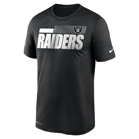Nike Las Vegas Raiders T-Shirt Team Name Sideline schwarz