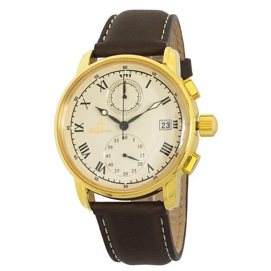 Burgmeister Herren Chronograph Graz gold/braun