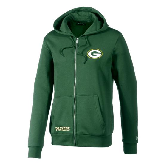 New Era Green Bay Packers Kapuzenjacke Team Logo grün