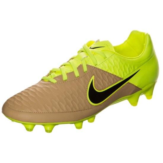 Nike Fußballschuh Magista Orden Leather FG braun/neongelb