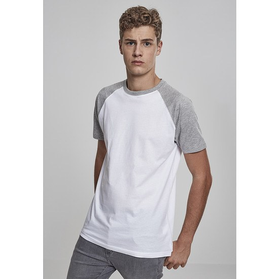 URBAN CLASSICS T-Shirt Raglan Contrast schwarz/weiß