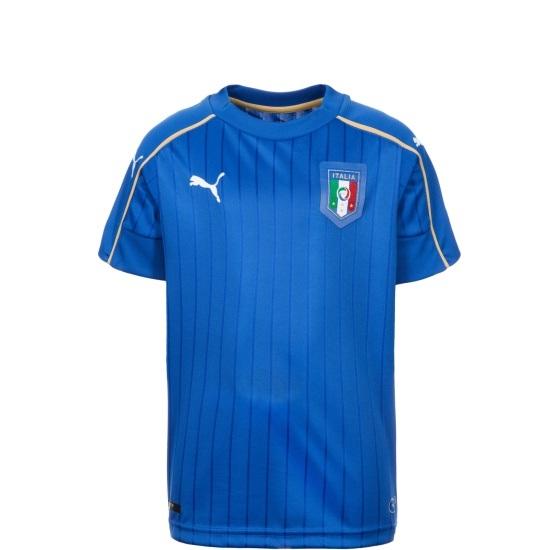 Puma Italien Heim Trikot EM 2016 Kinder blau/weiß