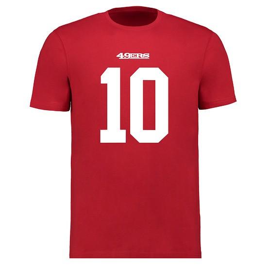 Majestic Athletic San Francisco 49ers T-Shirt N&N Garoppolo No 10 rot